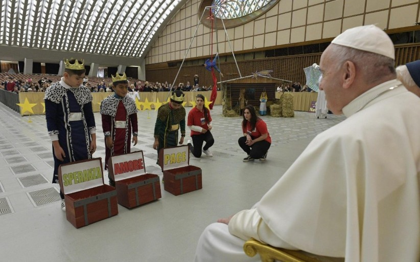 إيطاليا – قاعة بولس السادس في الفاتيكان – عيد الميلاد 2019