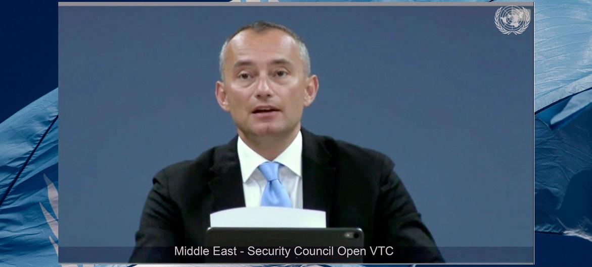 نيكولاي ملادينوف ، يصف خطة إسرائيل للضفة الغربية بأنها انتهاك للقانون الدولي